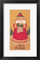 Framed Merry Christmas Santa