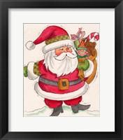 Framed Santa And Toys