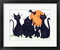 Framed Halloween Kitties
