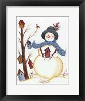 Framed Snowy Friend