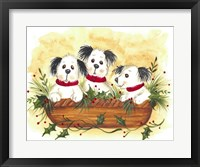 Framed Christmas Puppies