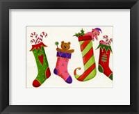 Framed Four Stockings