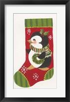 Framed Penguin Stocking