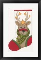 Framed Reindeer Stocking