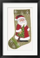 Framed Santa With Tree Stocking