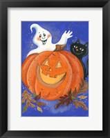 Framed Pumpkin, Ghost & Cat