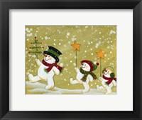 Framed Marching Snowmen