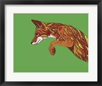Framed Fox Pounce