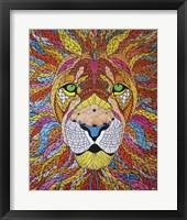 Framed Lion Ablaze