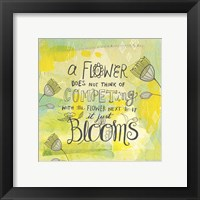 Framed Blooms Quote