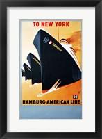 Framed Hamburg American Line