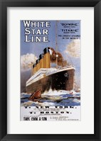 Framed White Star Line