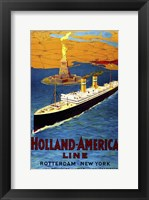 Framed Holland America Line