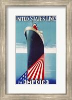 Framed United States lines