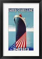 Framed United States lines