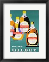 Framed Gilbey Whisky