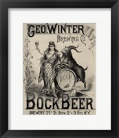 Framed Bock Beer