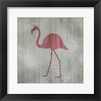 Framed Pink Flamingo II