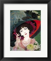 Framed De Feure Smoker Portrait I