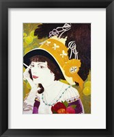 Framed De Feure Smoking Woman III