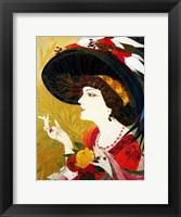 Framed De Feure Smoking Woman IV