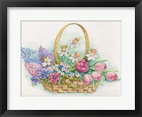 Framed Basket of Flowers