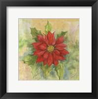 Framed Poinsettia 1