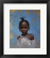 Framed Girl Blue