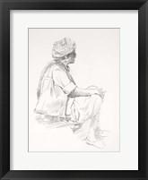 Framed Man Sitting Sketch