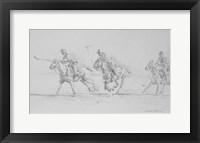 Framed Polo Sketch