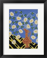 Framed Floral Urn - Brown