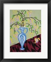 Framed Delicate by Design - Blue Vase