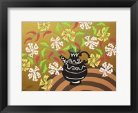 Framed Black Teapot Vase