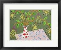 Framed Shedding Petals - Green