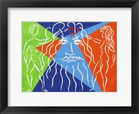 Framed God Creates Adam and  Eve