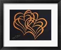 Framed Hearts on Black