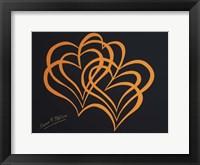 Framed Hearts on Black