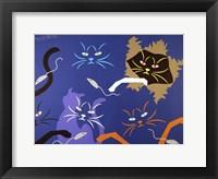Framed Cats on Blue