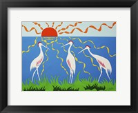Framed Three Storks