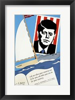 Framed JFK