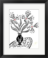 Framed Black and White Floral