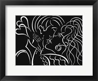 Framed Kiss - White