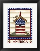 Framed Americana Birdhouse