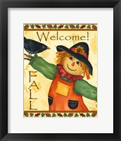 Framed Welcome Fall