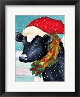 Framed Christmas Cow