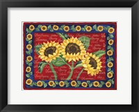 Framed Sunflower Design