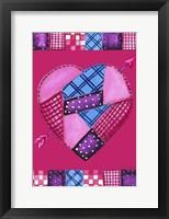 Framed Patchwork Heart