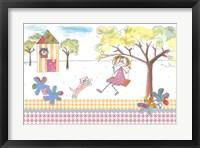 Framed Girl On Swing