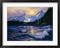 Framed Snowy Peaks