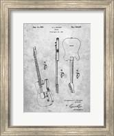 Framed Fender Guitar Patent
